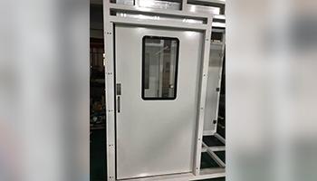 Manual single open sliding door