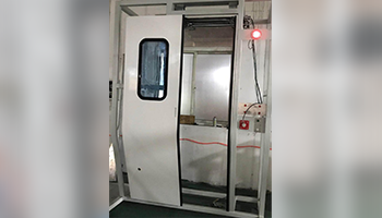 Electric control and drive plug-in  door