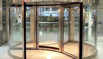Automatic revolving doors for hotels and buildings