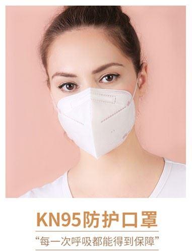 铜纤维纳米膜KN95五层口罩(Copper fiber nano-film KN95 five-layer mask)